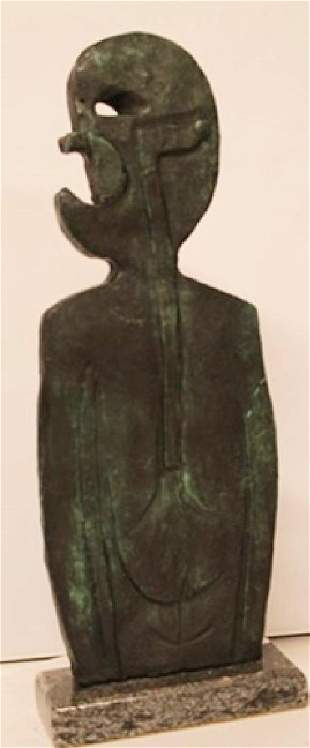 Patina Bronze Sculpture Rufino Tamayo