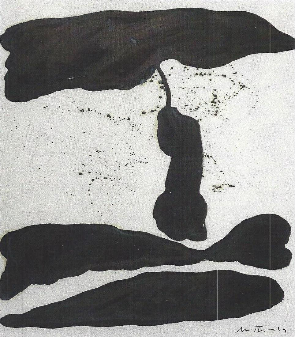Robert Motherwell - Oil On paper
