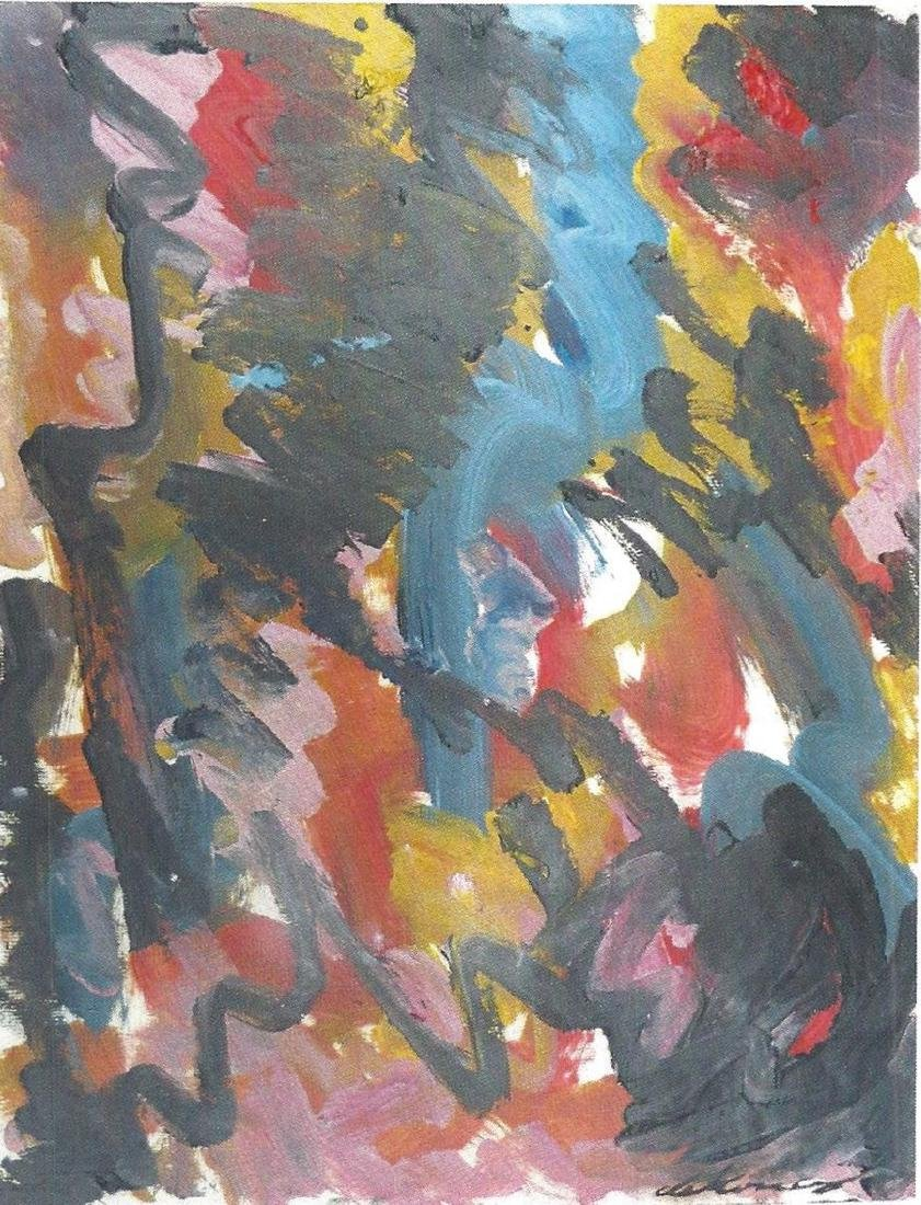 Willem De Kooning  - Oil On Paper