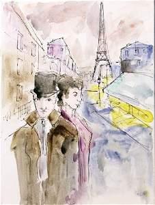 Paris Scene 3 - Michael Schofield - Original Painting