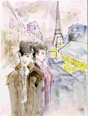 Paris Scene 3 Michael Schofield Original Painting