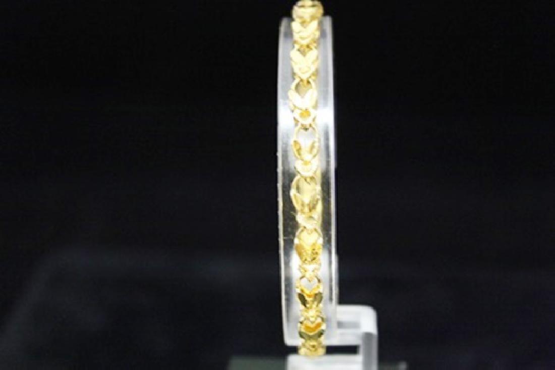 Elegant 14kt Gold over Silver Chic Bracelet (20M)