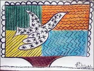 Pablo Picasso Pastel On Paper 0091