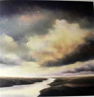 Lakeside Sunset Chris Parson Lithograph