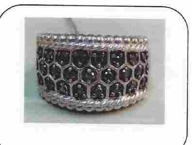 Ladys silver diamond desing ring