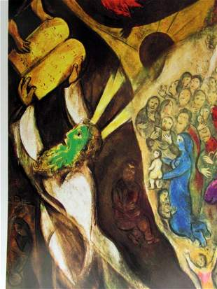 Signed Lithograph Marc Chagall H171