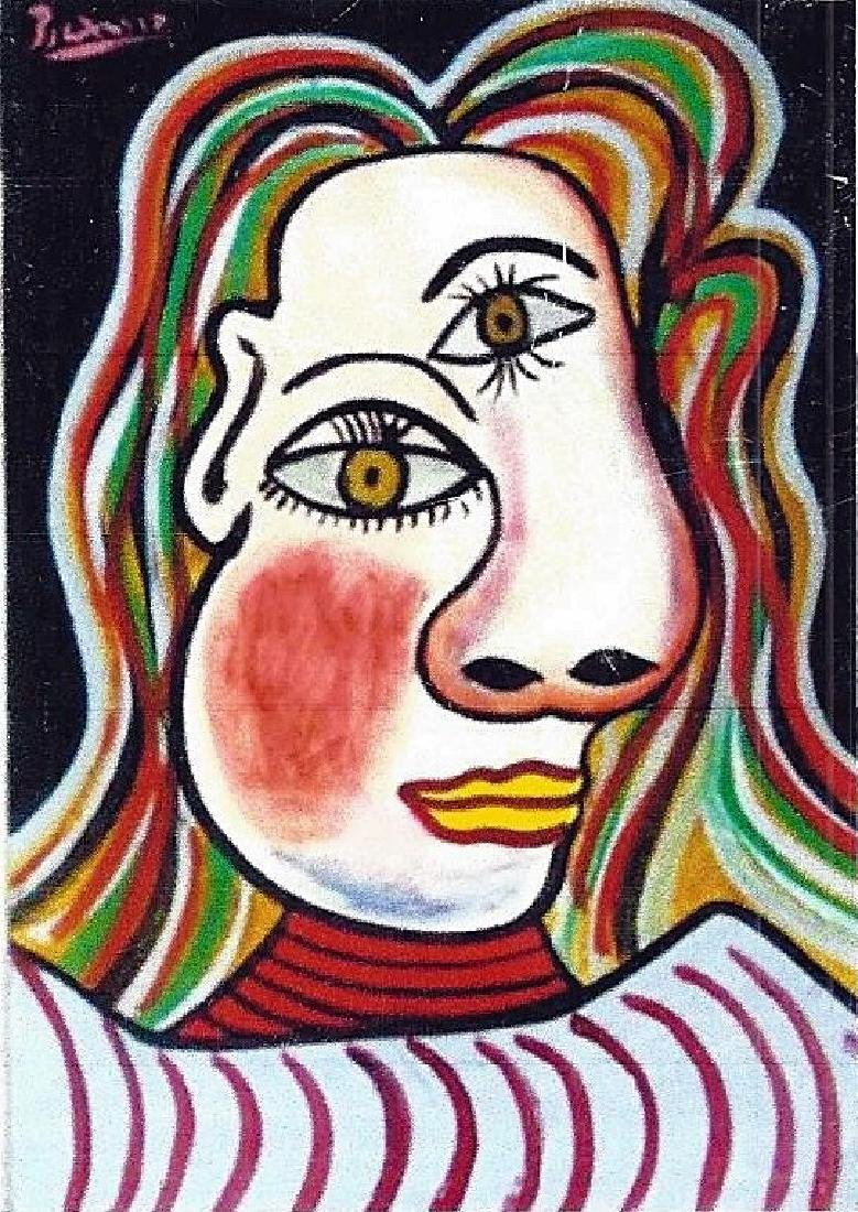 Woman Bust - Pablo Picasso - Oil On Paper