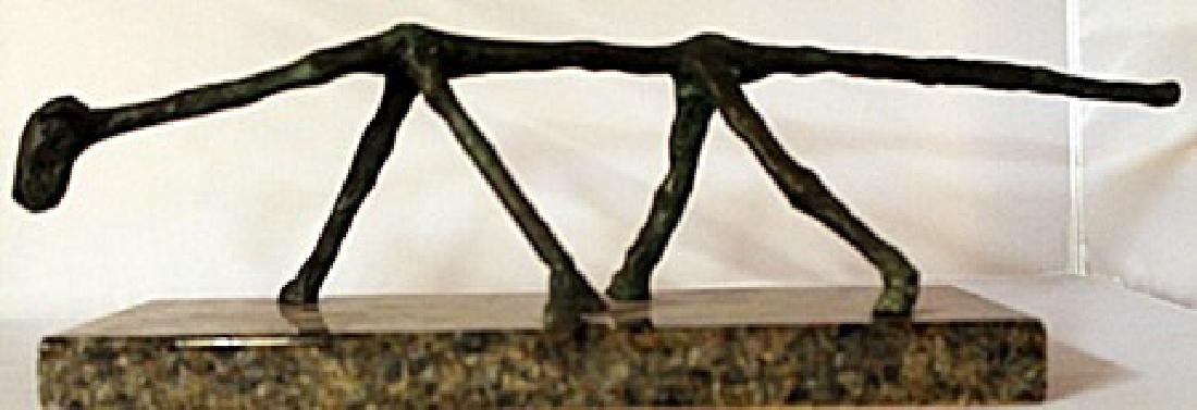 Bronze Sculpture - Marble Base - Unsigned by artist