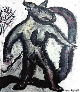 Marc Chagall Oil On Paper