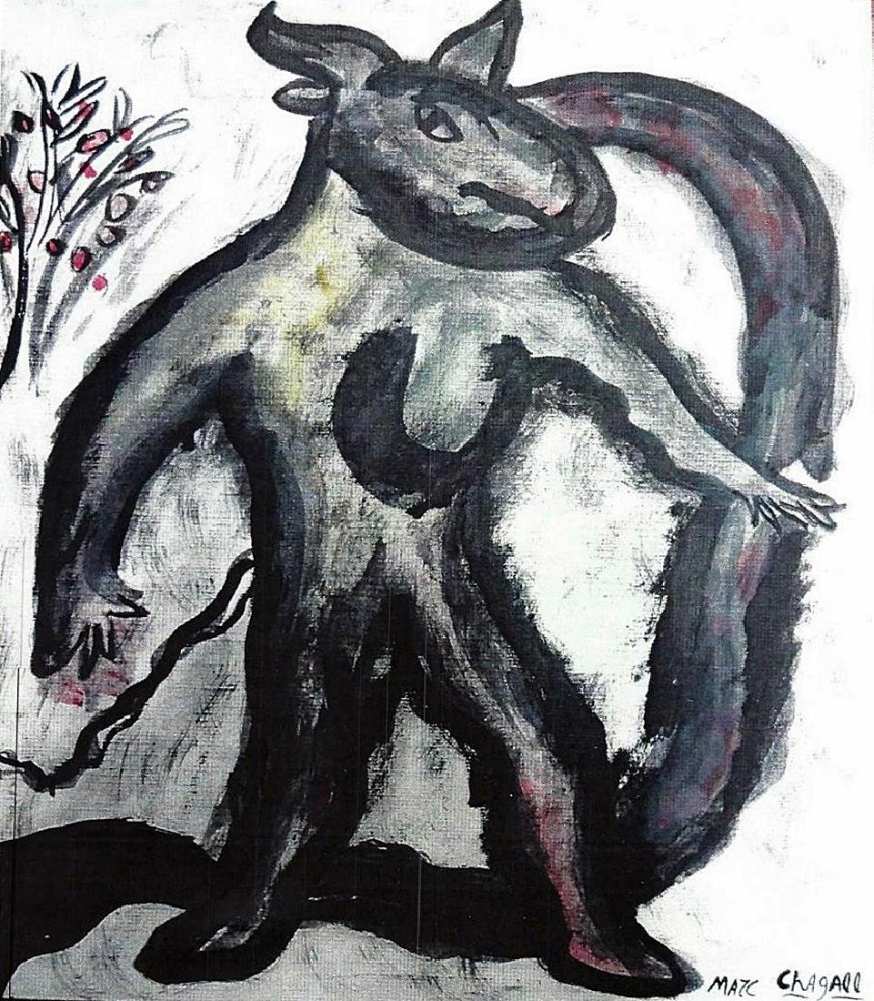 Marc Chagall - Oil On Paper