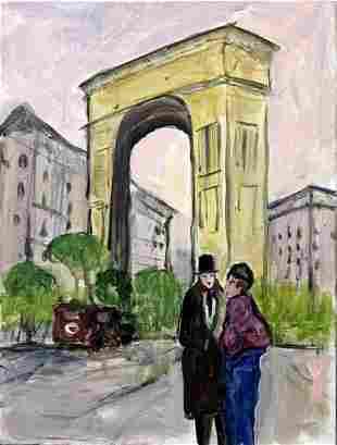 Paris Scene 12 Michael Schofield Original Painting