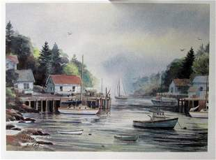 Harbor Grant Dolge Lithograph