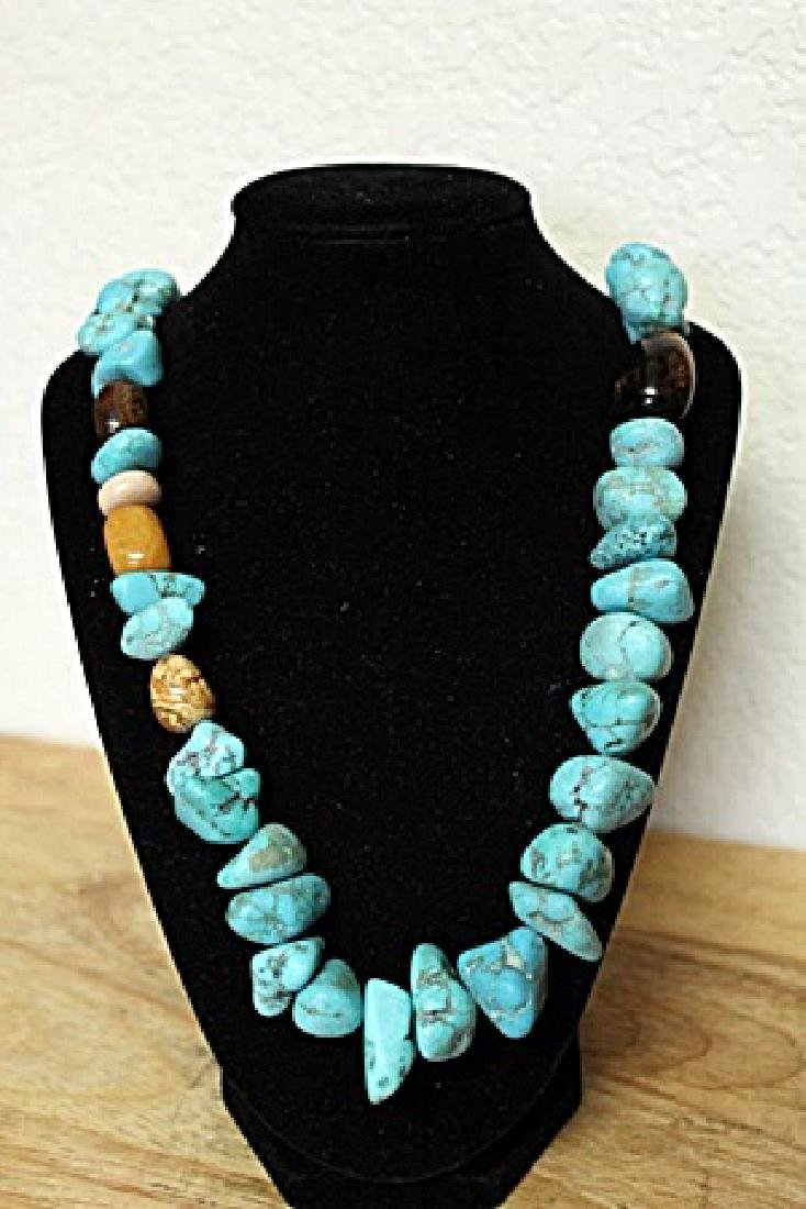 Turquoise Tiger Eye Necklace - 2