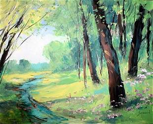 Original Oil On Canvas BY MICHAEL SCHOFIELD 1