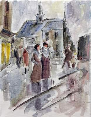 Paris Scene 19 Michael Schofield Original Painting