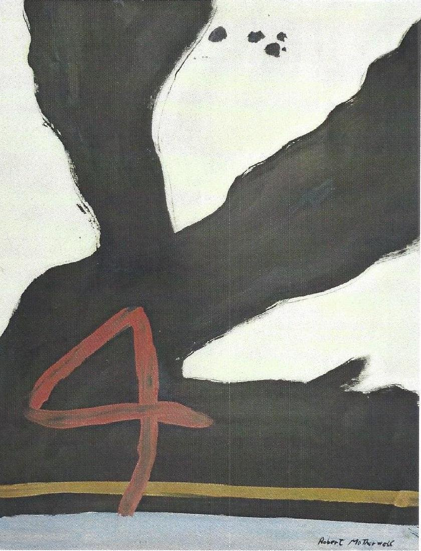 Number 4 - Robert Motherwell - Oil On paper