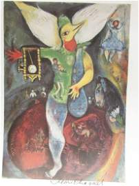 Signed Lithograph - Marc Chagall H129