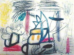 The Enigma Arshile Gorky Oil Pastel On Paper