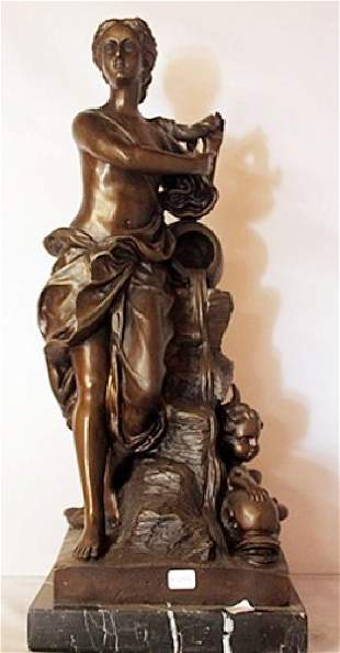 Bronze Sculpture W Marble Base