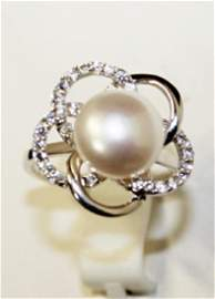 Beautiful Baroque Flower Pearl Ring