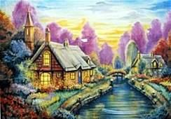 "Serigraph ""Darice's Cottage"" after Michael Sharinski"