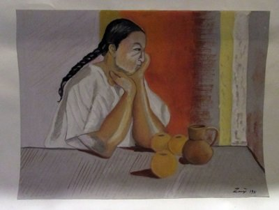 Francisco Zuniga - Untitled Watercolor