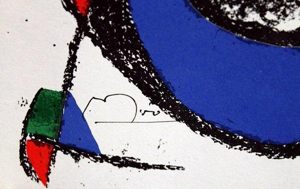 Signed Miro Lithograph - 2