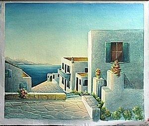 Acrylic on Canvas; Signed C. Benolt