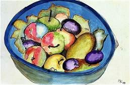 Frida Kahlo - Frutas 1940 Watercolor