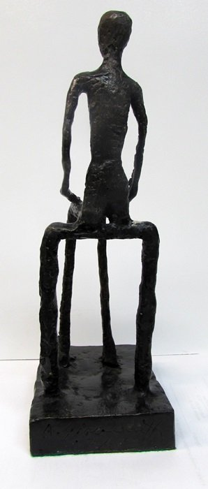 Signed Limited Edition Giacometti Bronze - 2