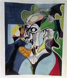 Andre Masson - Mr Eugene Watercolor