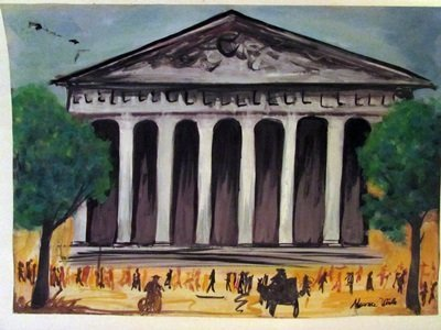 Maurice Utrillo - Le Petit Palais Watercolor