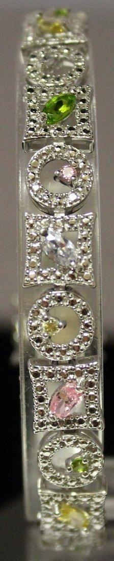 Fashionable Sterling Silver Lab Multi Gem Stones