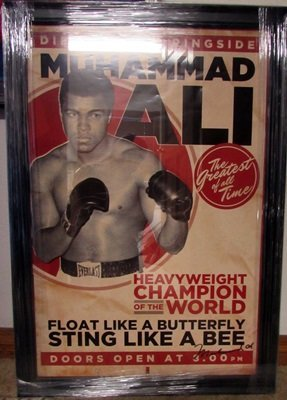 Signed Muhammad Ali Fight Lithograph