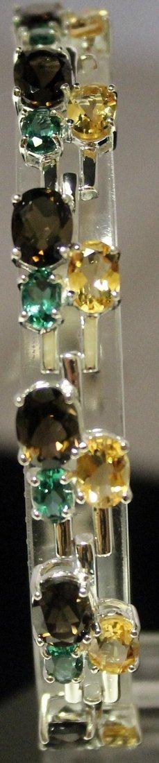 Very Fancy Sterling Silver Lab Multi Gem Stones
