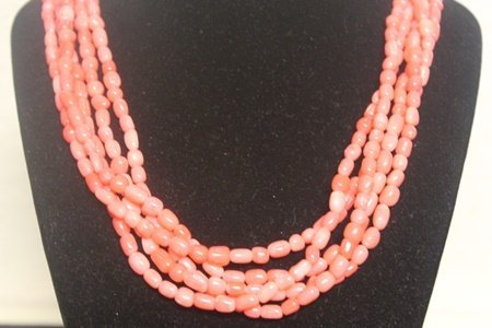 Gorgeous Pink Coral Necklace (10ZF)