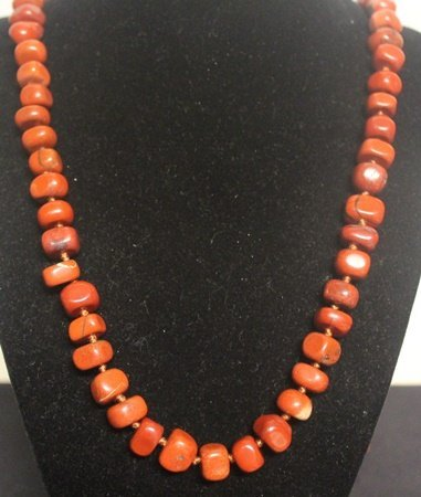 Gorgeous Red Coral Necklace (39ZF)