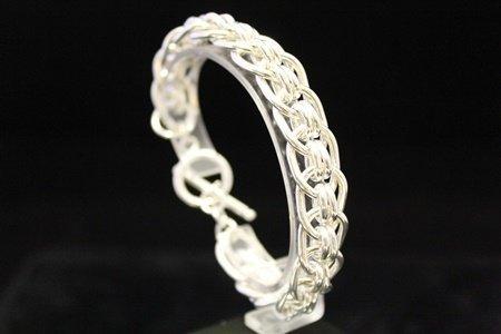 Exquisite Chic Silver Bracelet (18M) - 2