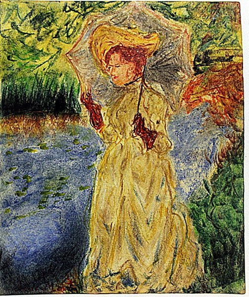 Claude Monet - Woman with Yellowhat