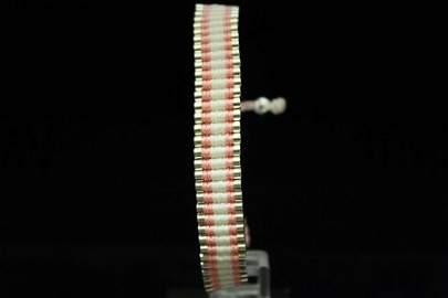 Fancy Links London Pink & White Silver Bracelet (80M)