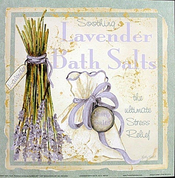 "Fine Art Print ""Lavender Bath Salts"" by Kathey Hatch"