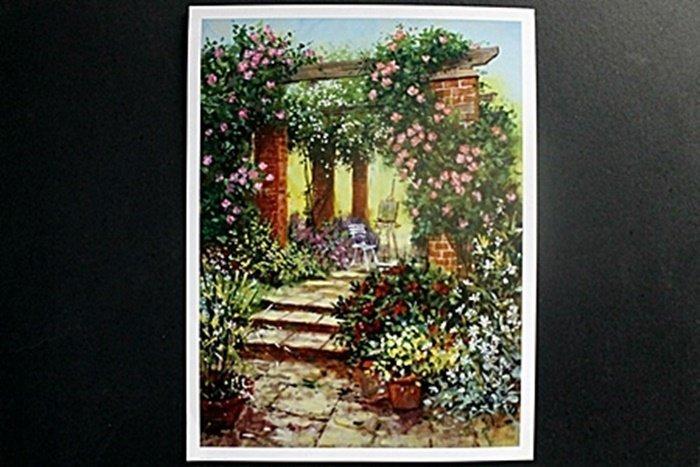 "Fine Art Print ""Floral Arbour"" by Richard Telford"