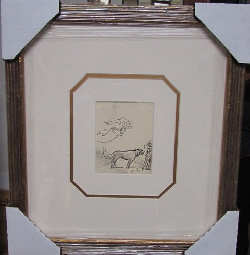 Hand Signed Authentic Drawing Ludovic Rodo Pissarro -