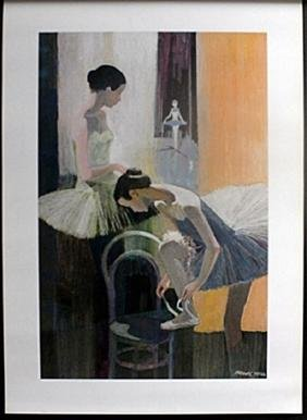 "Fine Art Print ""Dancer, Tieing shoe"" by Frank Hill"