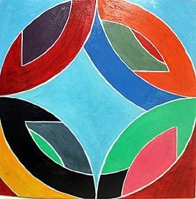 Frank Stella - Discs 1960 Oil