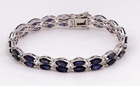 SILVER BRACELET WITH IOLITE