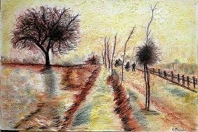 Camille Pissarro - The Herritage at Pontoise 1901