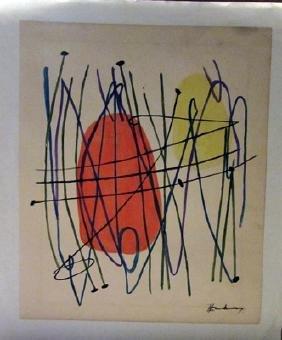 Hans Hartung - Composition Watercolor
