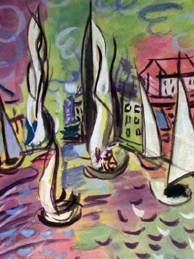 Raoul Dufy - Boats in the River Watercolor