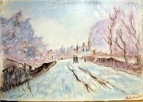 Claude Monet - Road to Argenteuil 1910 Pastel